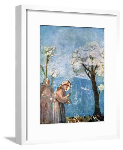 St Francis Preaching to the Birds, 1297-1299, (C1900-192)-Giotto-Framed Art Print