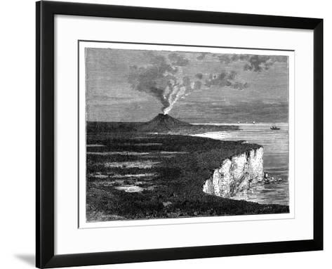 A Shield Volcano on Reunion Island, Indian Ocean, C1890--Framed Art Print
