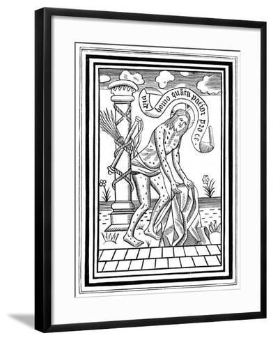 Jesus Christ after His Flagellation, C15th Century--Framed Art Print
