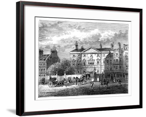 Cambridge House, Piccadilly, London, 1854--Framed Art Print