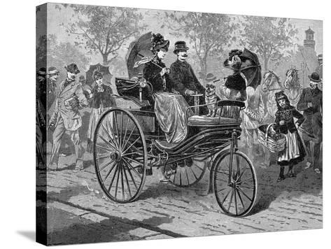 Petrol-Driven Car by Benz and Co., Capable of 16 KM Per Hour, C1890S--Stretched Canvas Print