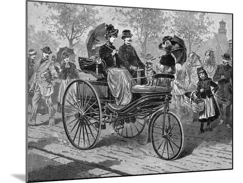 Petrol-Driven Car by Benz and Co., Capable of 16 KM Per Hour, C1890S--Mounted Giclee Print