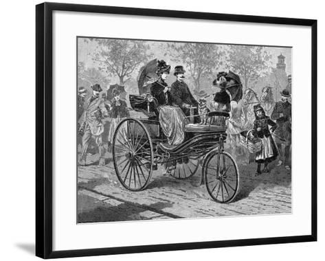 Petrol-Driven Car by Benz and Co., Capable of 16 KM Per Hour, C1890S--Framed Art Print
