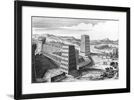 Wheeled Siege Towers and Bridges, 13th Century (18th Centur)--Framed Art Print
