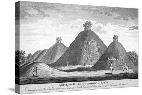 Bartlow Hills Near Ashdon in Essex, C1780--Stretched Canvas Print