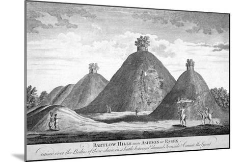 Bartlow Hills Near Ashdon in Essex, C1780--Mounted Giclee Print