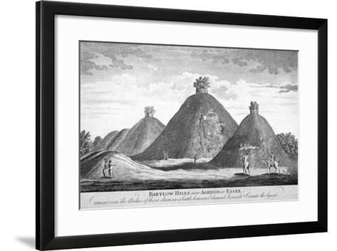 Bartlow Hills Near Ashdon in Essex, C1780--Framed Art Print