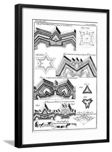 Designs of Fortifications, 1764--Framed Art Print