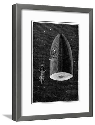 Illustration from De La Terre a La Lune by Jules Verne, 1865--Framed Art Print