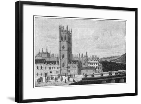 Magdalen College, Oxford, 17th Century--Framed Art Print