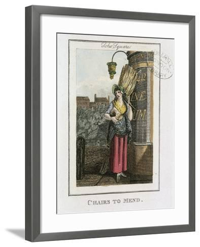 Chairs to Mend, Cries of London, 1804-William Marshall Craig-Framed Art Print