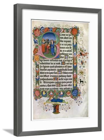 David Anointing David, C15th Century--Framed Art Print