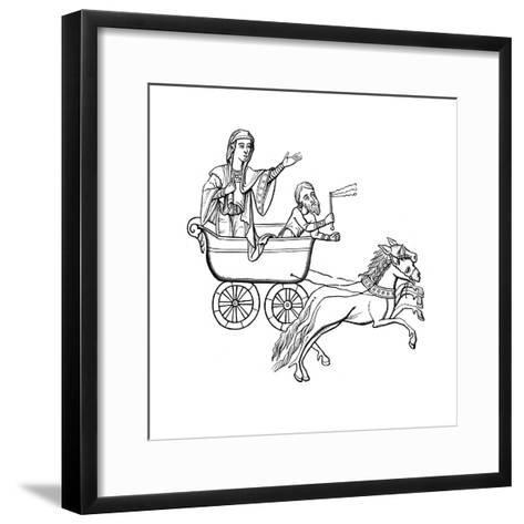 The Carruca, 9th Century--Framed Art Print