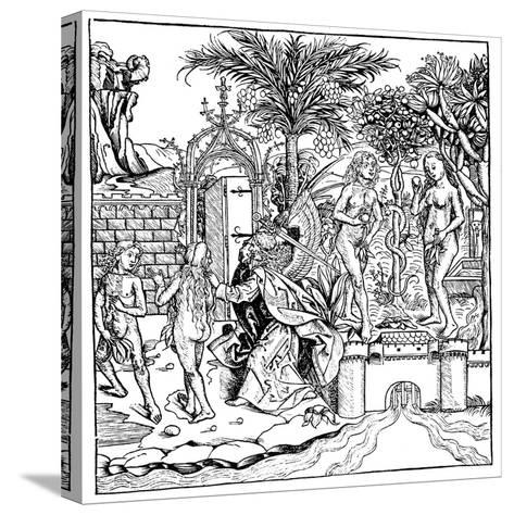 Adam and Eve, 1493--Stretched Canvas Print
