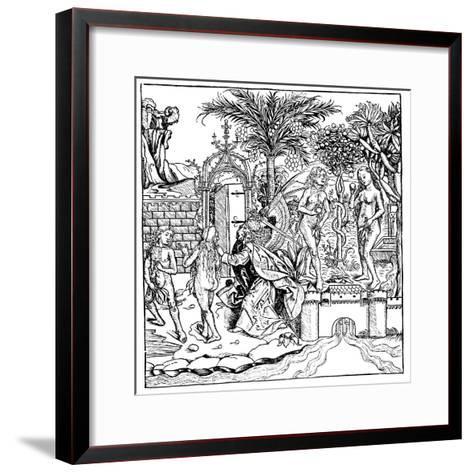 Adam and Eve, 1493--Framed Art Print
