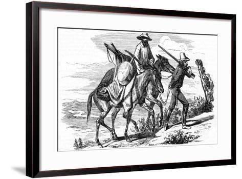 Prospectors on their Way to the Californian Gold Fields, 1853--Framed Art Print