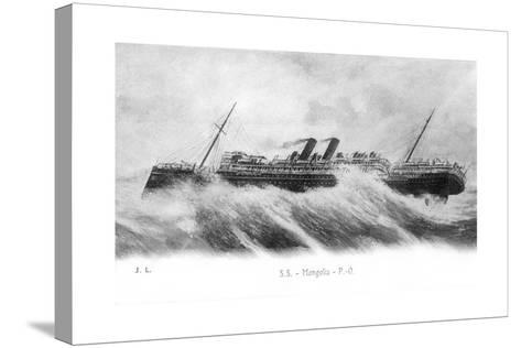 SS Mongolia in Heavy Seas, C1903-C1917--Stretched Canvas Print