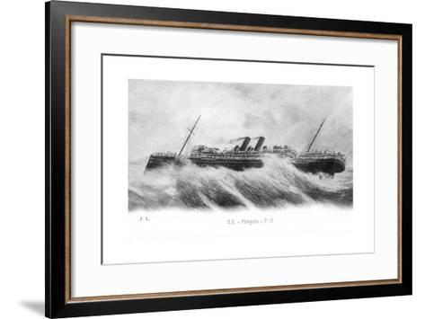 SS Mongolia in Heavy Seas, C1903-C1917--Framed Art Print