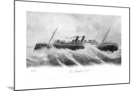 SS Mongolia in Heavy Seas, C1903-C1917--Mounted Giclee Print