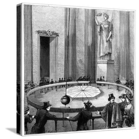 Foucault Using His Pendulum to Demonstrate the Rotation of the Earth, Paris, 1851--Stretched Canvas Print