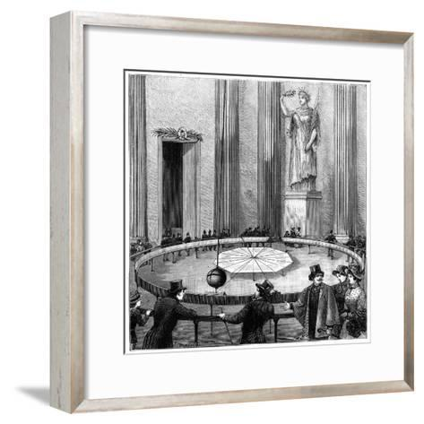 Foucault Using His Pendulum to Demonstrate the Rotation of the Earth, Paris, 1851--Framed Art Print
