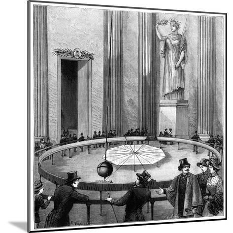 Foucault Using His Pendulum to Demonstrate the Rotation of the Earth, Paris, 1851--Mounted Giclee Print