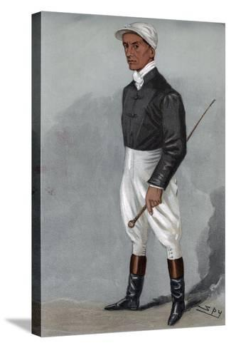 Fred Rickaby, English Jockey 1901-Spy-Stretched Canvas Print