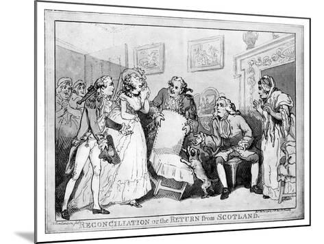 Reconciliation or the Return from Scotland, Late 18th Century-Thomas Rowlandson-Mounted Giclee Print
