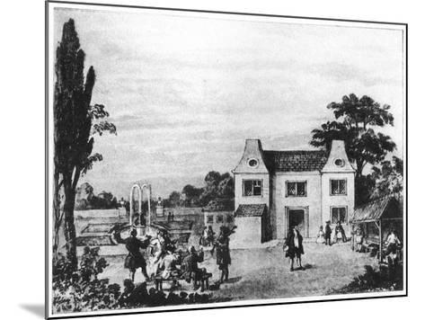 Spring Gardens, Site of Lowndes Square, London, C Late 18th Century--Mounted Giclee Print
