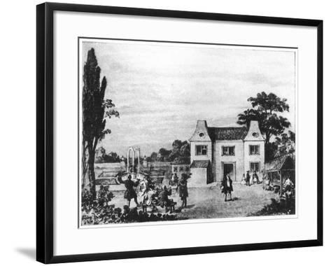 Spring Gardens, Site of Lowndes Square, London, C Late 18th Century--Framed Art Print