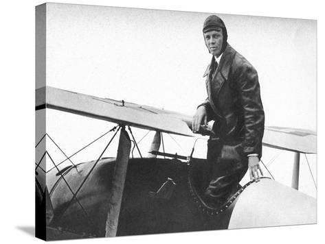 Charles Lindburgh, Record Breaking Aviator, 1927--Stretched Canvas Print