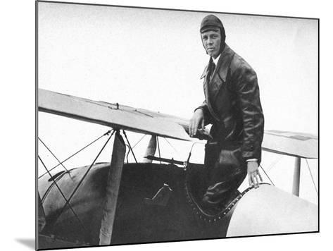 Charles Lindburgh, Record Breaking Aviator, 1927--Mounted Giclee Print