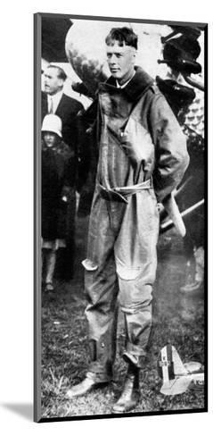 Charles Lindburgh, Record Breaking Aviator, 1927--Mounted Giclee Print