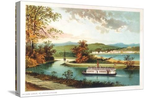 Crinan Canal at Lochgilphead, Scotland, 1891--Stretched Canvas Print