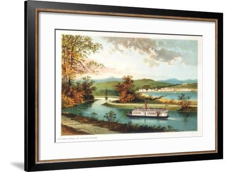 Crinan Canal at Lochgilphead, Scotland, 1891--Framed Art Print