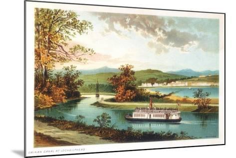Crinan Canal at Lochgilphead, Scotland, 1891--Mounted Giclee Print