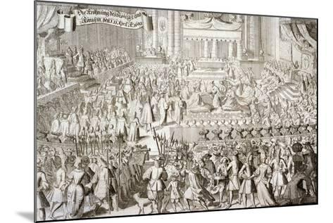 Coronation of William III and Mary II in Westminster Abbey, London, 1689--Mounted Giclee Print
