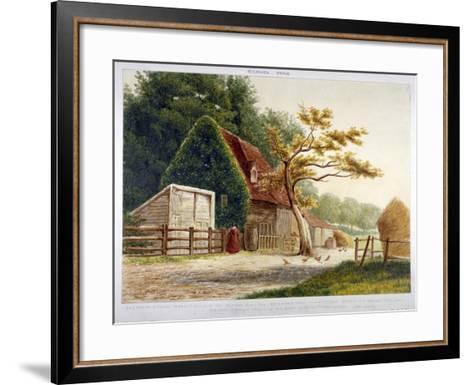 Farm in Kilburn Park, Edgware Road, Paddington, London, C1865--Framed Art Print