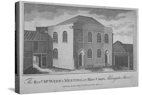 View of Reverend Francis Webb's Meeting House, Hare Court, City of London, 1784--Stretched Canvas Print