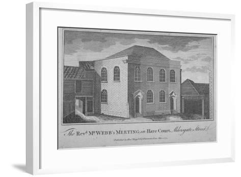 View of Reverend Francis Webb's Meeting House, Hare Court, City of London, 1784--Framed Art Print