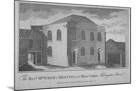 View of Reverend Francis Webb's Meeting House, Hare Court, City of London, 1784--Mounted Giclee Print