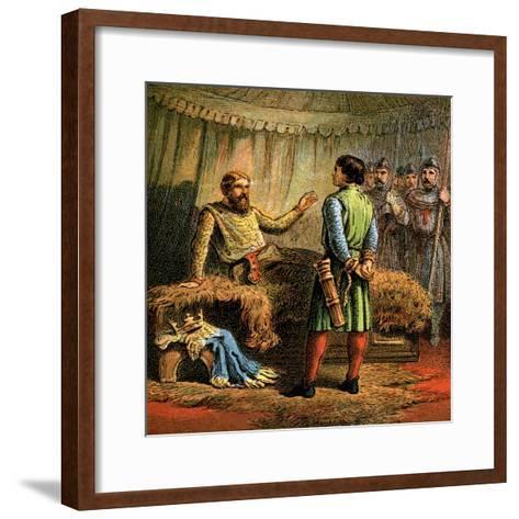 Death of Richard the First, 1199--Framed Art Print