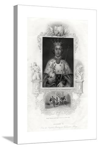Richard II, King of England, 1860--Stretched Canvas Print