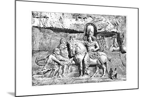 Valerian at the Feet of Sapor, Royal Tombs at Naksh-I-Rustem, Persepolis, Iran, 1895--Mounted Giclee Print