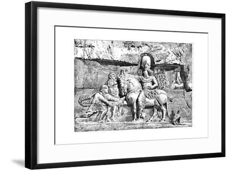 Valerian at the Feet of Sapor, Royal Tombs at Naksh-I-Rustem, Persepolis, Iran, 1895--Framed Art Print
