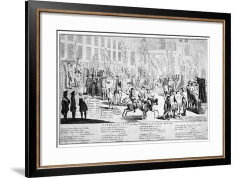 A Stir in the City, or Some Folks at Guild-Hall, 1754--Framed Art Print
