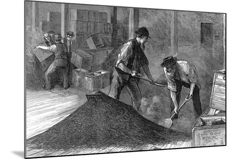 Bulking Tea in the Warehouses of the East and West India Dock Company, London, 1874--Mounted Giclee Print