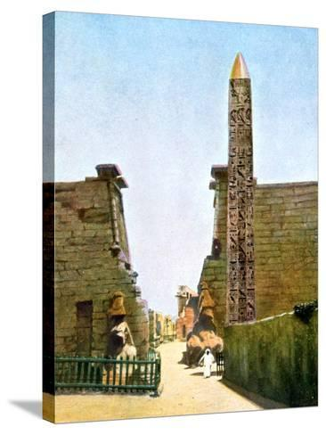 Obelisk at the Temple of Rameses Ii, Luxor, Egypt, 20th Century--Stretched Canvas Print