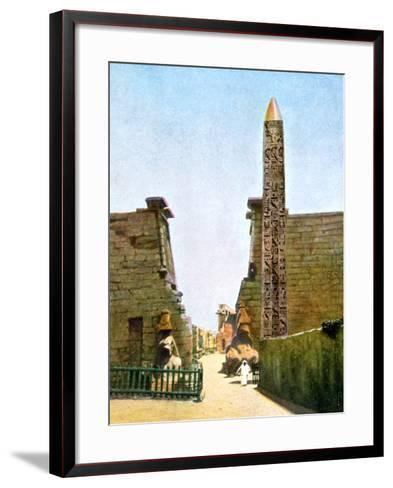 Obelisk at the Temple of Rameses Ii, Luxor, Egypt, 20th Century--Framed Art Print