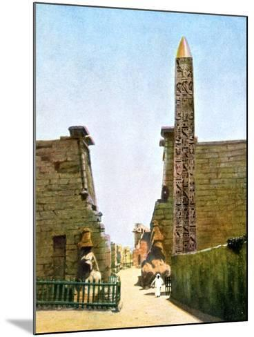 Obelisk at the Temple of Rameses Ii, Luxor, Egypt, 20th Century--Mounted Giclee Print
